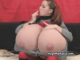 Horny schoolgirl using her own huge part4
