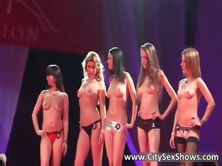 Hot strippers walk in sexy lingerie  part6