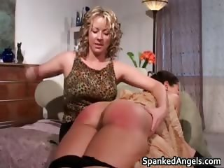 Sexy brunette slut gets slapped part2