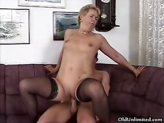 Hot blonde slut goes crazy riding part4