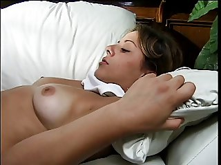 Smoking hottie in heat gets her pussy pounded