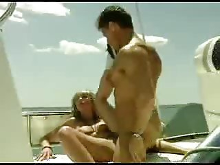 Claire and Rocco on a Boat