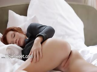 Incredible redhead finger soft skin