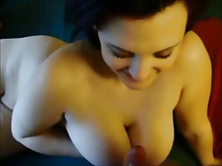 Big titty brunette on real homemade