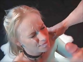 Blonde Teen Gets Blasted With Cum
