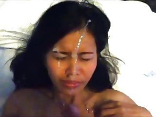 Asian girl facial