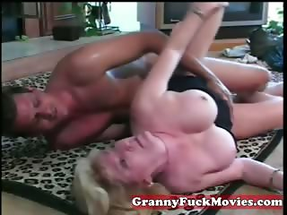 My granny has a toy boy to fuck with