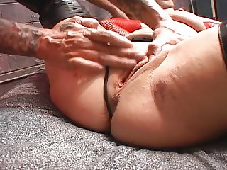 Hot Brunette Cougar Pounded by Two Guys- FMM