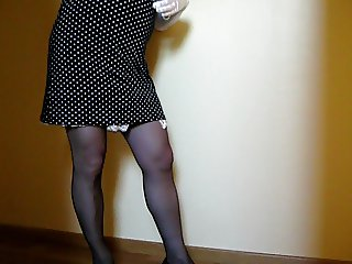 crossdresser strip tease