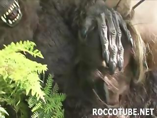 Rachel Roxxx sucking and fucking the rod from a freakin gorilla