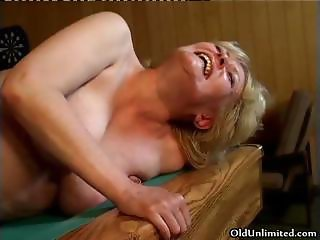 Nasty blonde mature wife gets her pussy part3