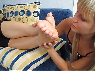 Smell and lick my feet