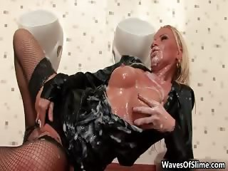 Sexy blonde slut goes crazy sucking part5