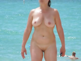 Walking on nude beach