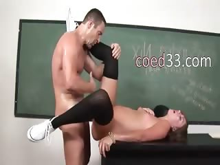 Beautiful schoolmate fucks with teacher