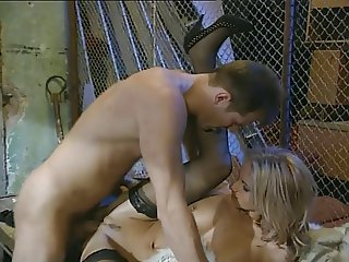 Blonde anal whore