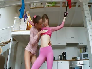 20yo russian chicks playing with toys