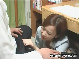 Hot asian home teacher with big boobies part1