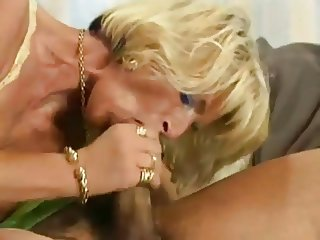 Blonde German Cougar Hot Fuck on Sofa by TROC