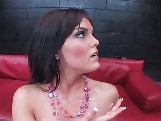 Mckanzee Pierce DP & swallow cum
