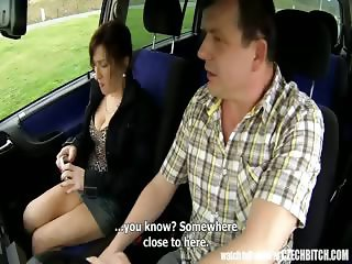 Czech MILF Hooker Fucked in Car