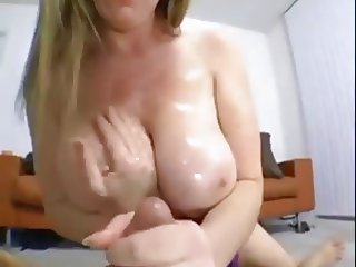 Hot Busty Cougar POV Titfuck BJ and Cock Ride