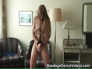 Very hot sexy horny blonde chick gets part2