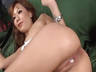 Shaved Asian Pussy Gets Creampied