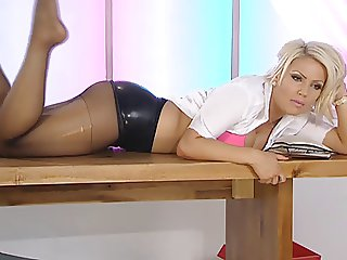 Electra tights latex and foot fetish