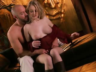 Luscious blonde babe Stacie Jaxxx screwed up in her shaved snatch
