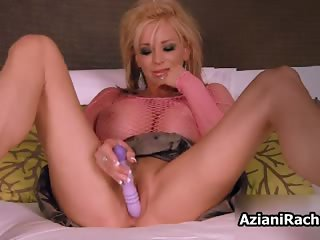 Sexy blonde slut gets her cunt dildo part4