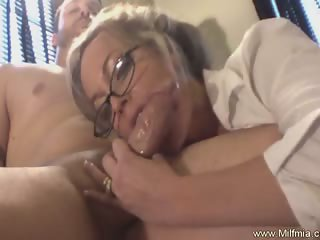 MILF Secretary With Glasses Fucked
