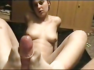 Jessikas First Footjob On Cam