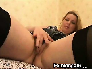 Horny Woman Inflicted with Femdomme