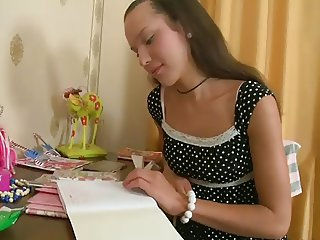 Beauty Russian Teen Brunette Fiona Nice Threesome Fuck