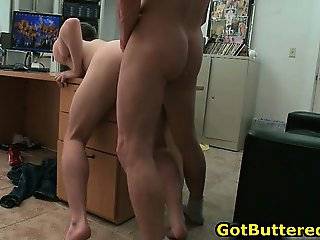 Sexy gay guy gets his ass and mouth part4