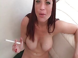Hot Sexy Redheaded Babe Smoking Sex