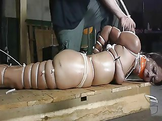 very tight cable tie hogtie
