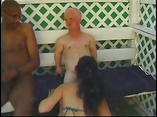 Ebony in heat banged by a midget
