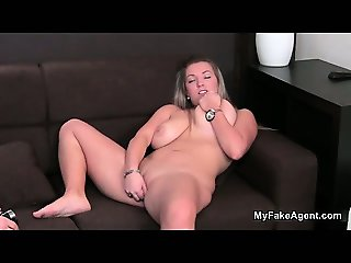 Busty blonde babe Petra wanking her part2