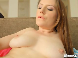Nasty Samantha sits on toy with her ass
