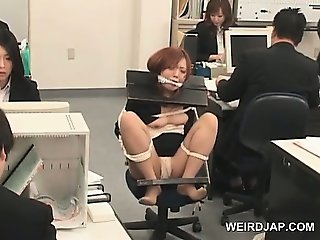 With Milf gets interracial anal in officechair variant Very