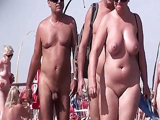 French nudist beach Cap d'Agde people walking nude 03