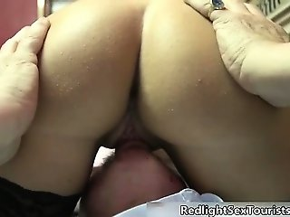Nasty brunette slut gets horny stripping part6