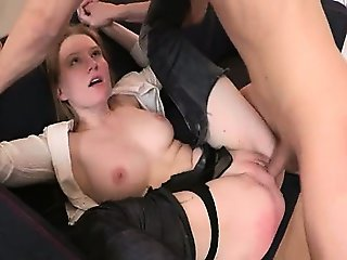 punished secretary with dick in anus