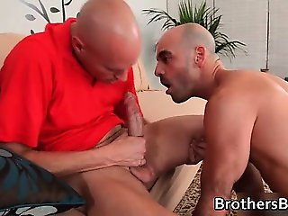 Hot BF gets his ass fucked on couch part3
