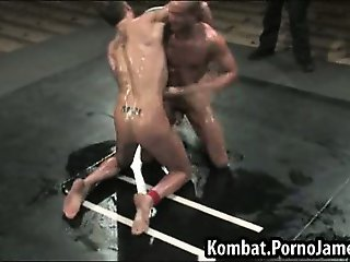Male wrestler gets fucked