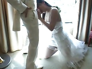 Japanese Tgirl Fucks New Husband After Wedding