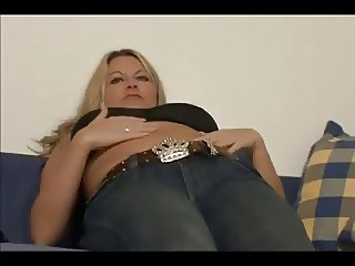 German Hot mom has a pierced clit