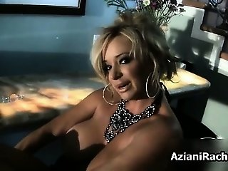 Sexy blonde babe gets horny dildo part1